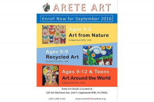 Arete Art Academy, art class, kids art